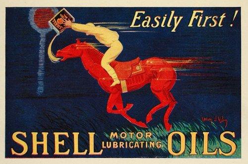 1924-print-jean-dylen-mini-poster-art-shell-motor-oil-racing-horse-race-jockey-original-mini-poster