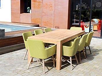RESIDENCE Salon De Jardin El Paso - Couleur - Vert: Amazon.fr: Jardin