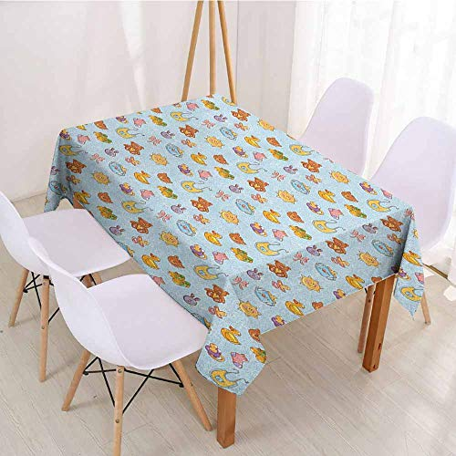 ScottDecor Wrinkle Free Tablecloths Printed Tablecloth W 70