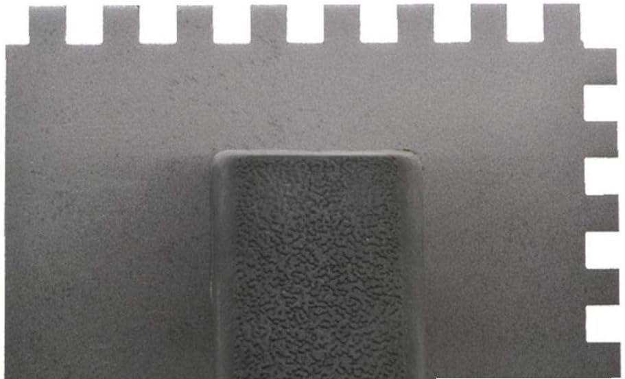 Zonfer Stahl Multifunktionale Tiling Trowel Professionelle Dekoration S/ägezahn Beweglicher Hauptwandverputz Platz Gebogener Griff