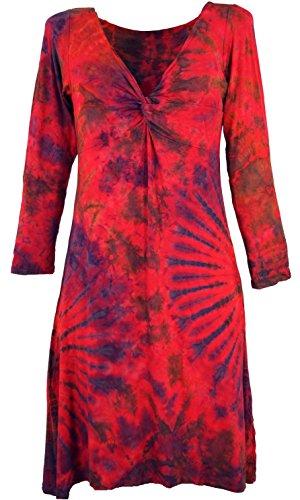 Guru Knielanges Damen Bekleidung Blau Minikleid Batikkleid Himbeerrot Synthetisch Kurze Size Alternative Kleider Shop Batik Boho 38 wpx4rqptY