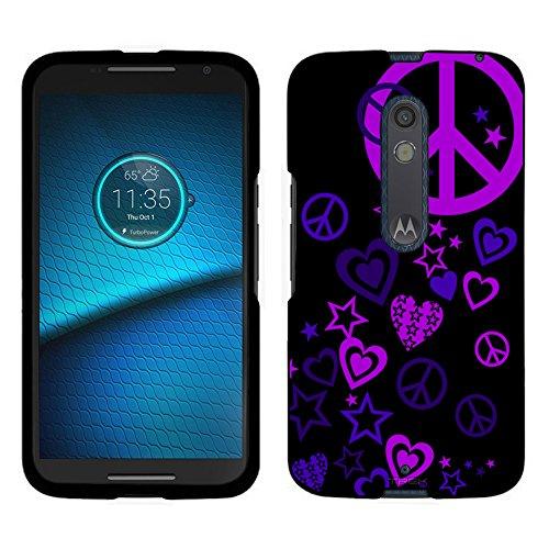 motorola-droid-maxx-2-case-snap-on-cover-by-trek-purple-love-peace-stars-on-black-case