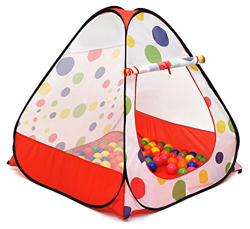 Kiddey Ball Pit Play Tent - Pops up No Assembly Required - Use as a Ball Pit or As an Indoor / Outdoor Play Tent, Comes with Convenient Carry Bag - Plastic Of Play Bag Pit