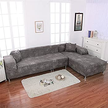 Genial Beacon Pet Universal Sofa Covers For L Shape, 2pcs Polyester Fabric Stretch  Slipcovers + 2pcs Pillow Covers For Sectional Sofa L Shape Couch