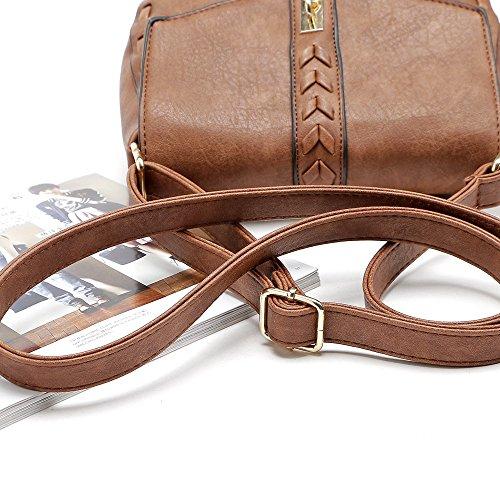 Crossbody Small Bags Bag Leather Purse Women with PU Vintage Shoulder Saddle Black Bag Tassel for rwrdSqxB