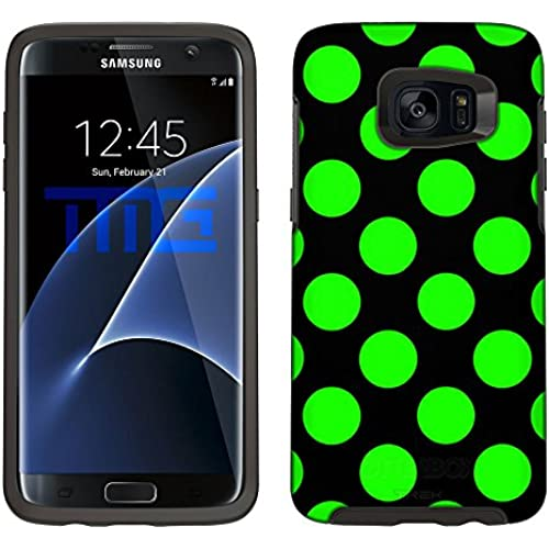 Skin Decal for Otterbox Symmetry Samsung Galaxy S7 Edge Case - Green Polka Dots Sales