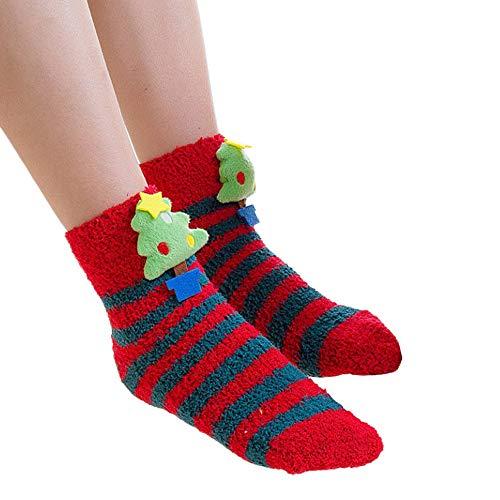 HEHEM Christmas Socks Cute Socks Christmas Breathable Warm Socks Women...