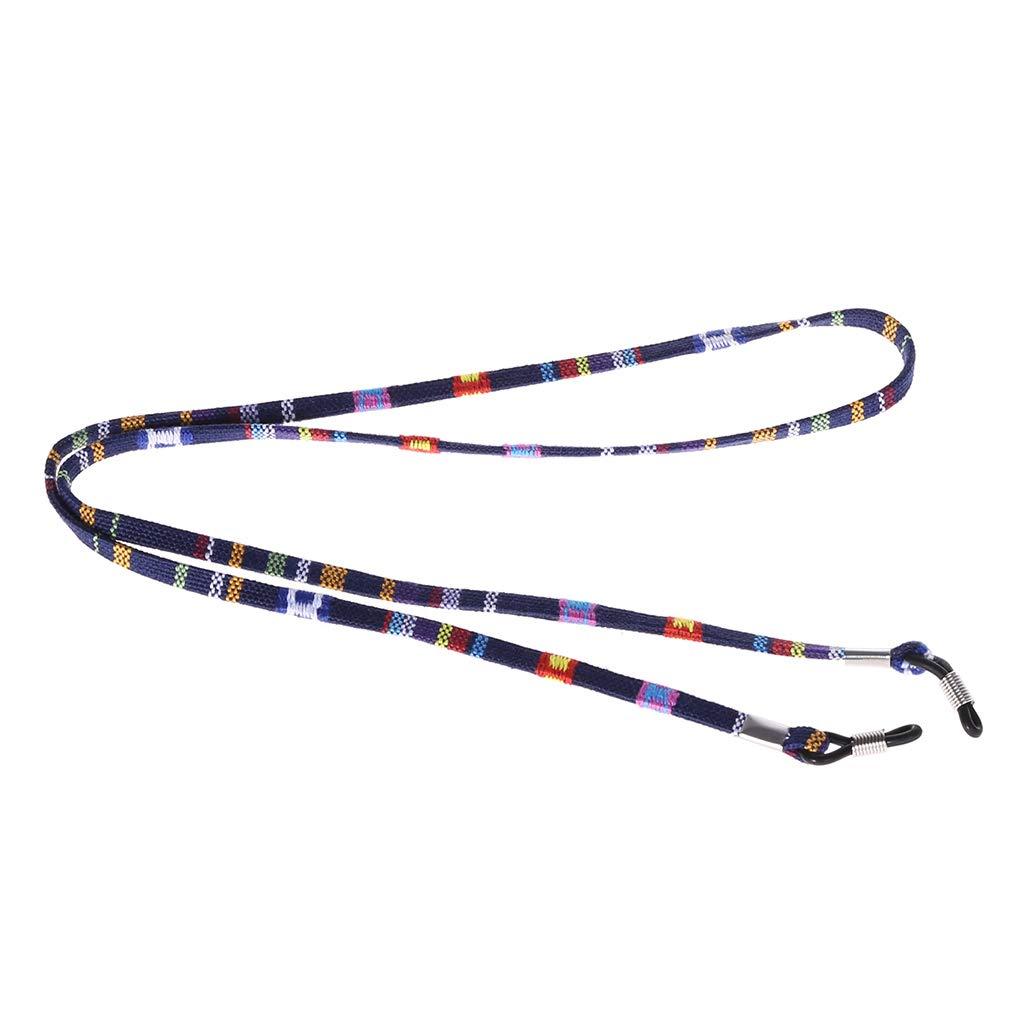Haorw Brillenband Sonnenbrillebügel Brillen Halter Kette Schnur Lanyard, 2 Stück 2 Stück (blau)