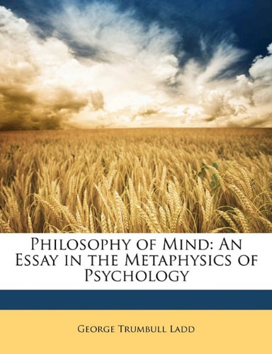 Download Philosophy of Mind: An Essay in the Metaphysics of Psychology pdf epub