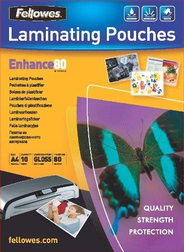 Fellowes 5312801 Pochettes de Plastification 80 Microns Format A4 Paquet de 10