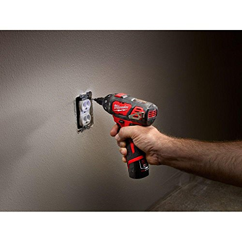 Milwaukee M12 12-Volt Lithium-Ion 1/4 in. Hex Cordless Screwdriver Kit | Hardware Power Tools for Your Carpentry Workshop, Machine Shop, Construction or Jobsite Needs by Milwaukee (Image #3)