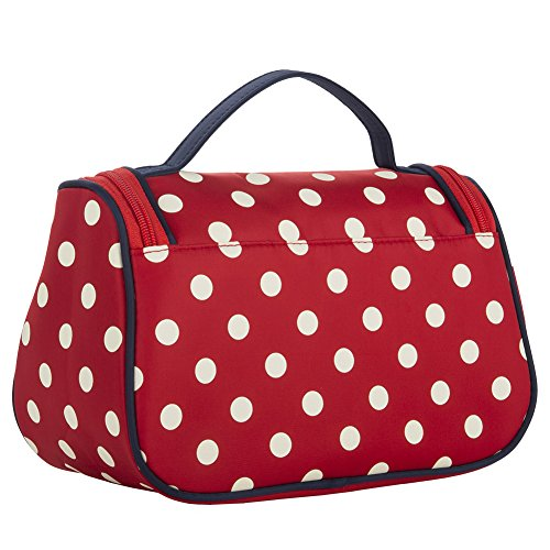Red Cosmetic Bag, Yeiotsy Stylish Polka Dots Travel Toiletry Bag Makeup Organizer Zippers Closure (Classic Red) by Yeiotsy (Image #5)