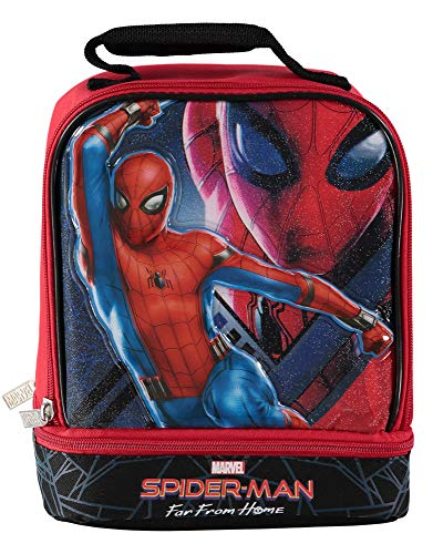Spiderman 3D Molded Dual Compartment Insulated Lunch Kit- Spider-man