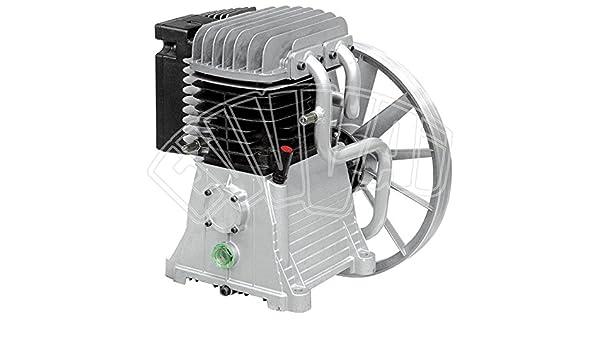 Unidad de bombeo compresor de aire, 827 l/min, con cabezal, 2 cilindros y doble etapa, 5,5 KW: Amazon.es: Bricolaje y herramientas