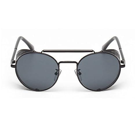 Amazon.com: Gafas de sol laterales Steampunk Vintage Cool UV ...