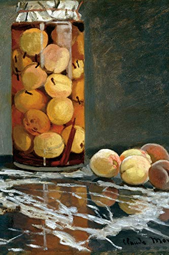 Claude Monet Poster Adhesive Photo Wall-Print - Jar of Peaches, 1866 (71 x 47 inches)