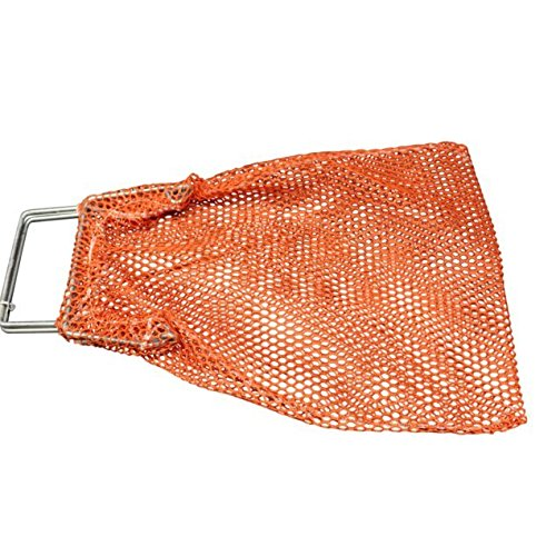 SGT KNOTS Mesh Catch Bag w/Galvanized Wire Handle - Nylon Scuba Dive Bag - Game Bag/Fish Bag for Diving & Snorkeling - Net Bag for Spearfishing, Lobster, More (10 in x 16 in, Orange) by SGT KNOTS