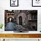 quarter round cord cover - Philiphome Cord Cover for Wall Mounted tv Barri Gothic Quarter and Bridge of Sighs in Barcelona Catalonia Spain Cover Mounted tv W20 x H40 INCH/TV 40