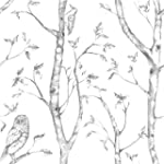Wall Pops NU1412 Gray Woods Peel and Stick Wallpaper