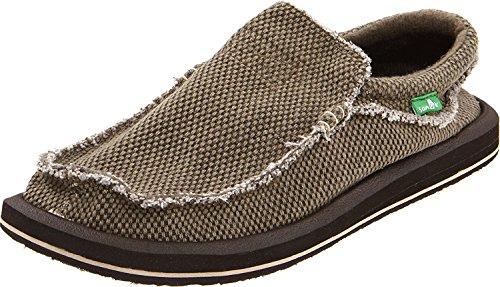 M On Brown Sanuk Men SMF1047 BRN Chiba Slip 9 Sneakers US Brown D Mens qqvIOwxa