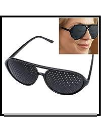 Fashion Eyesight Improver Pinhole Glasses Anti-fatigue Glasses New Vision Black