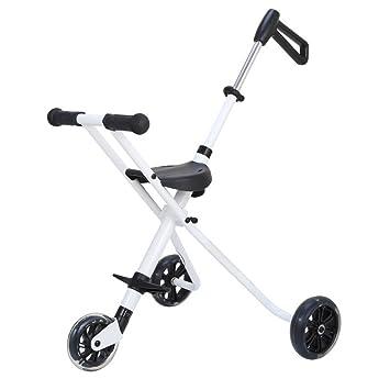 LZTET Sillas De Paseo Carrito De Bebé De Tres Ruedas Plegable Portátil Pedal De Bebé Cochecito