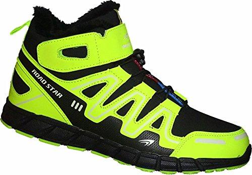 Herren Warmfutter Stiefel Sneaker Schuhe Sportschuhe Gr.47-49 Art- Nr.20191 Schwarz-Grün
