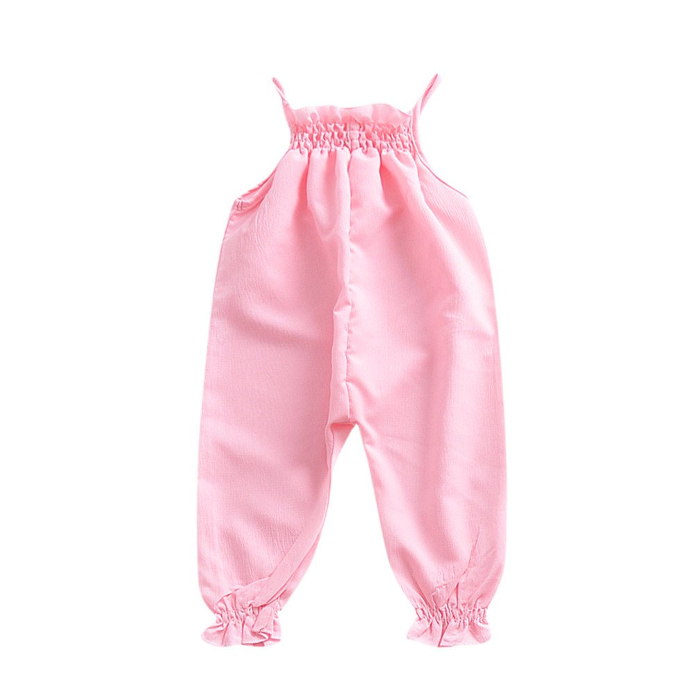 Dsood Infant Outfits,Toddler Kids Baby Girls Strap Romper Jumpsuit Harem Trousers Summer Clothes,Baby Boys' Costumes, 2019,Pink