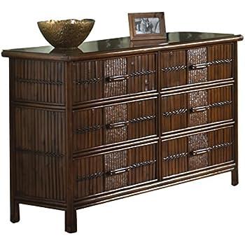 brtahiti by tahiti bedroom mirror headboard r drawer wicker suite rattan dresser queen seawinds six trading nightstand