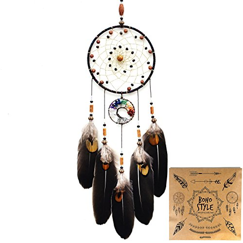 Littlear Dream Catcher Handmade Tree of Life Dream Catchers with Feathers Wall Hanging Home Decor Dia 51quotNO12