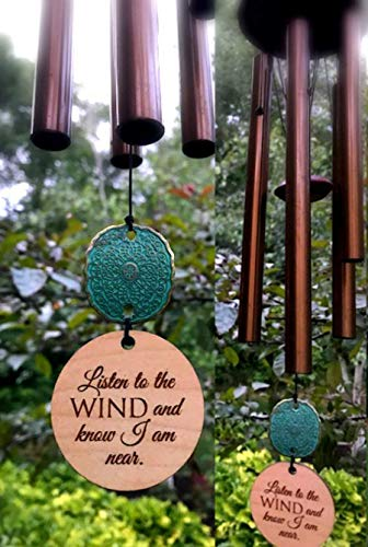 Memorial Wind Chime Sympathy Gift After Loss PRIME Rush Shipping for Funeral Loss in Memory of Loved One Copper Listen to the Wind Memorial Garden Remembering a loved -