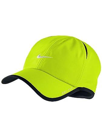 Nike Adult Unisex Tennis Runner Featherlight DRI-FIT Hat Neon Lemon   Amazon.co.uk  Sports   Outdoors a653d30a083