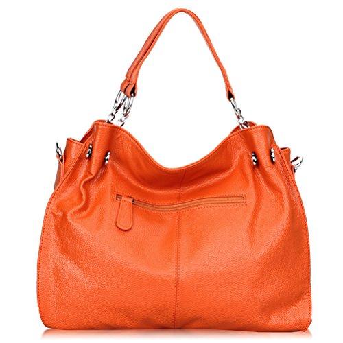 En Décontracté Bandoulière orange Sac Cuir Main Femme À Grand Pour Fendu 4Opwxqp