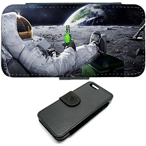 iPhone 6Wallet Astronaut Space Quirky Universe funny phone fall Bier