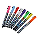 Marker - TOOGOO (R) 8 pcs Pen Neon LED Neon Chalk Marker Liquid Chalk Pencil Table Bookmark window 8 colors