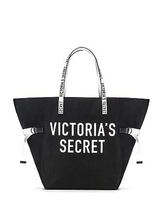 d1eb6d91ff06 Image Unavailable. Image not available for. Color  Victoria s Secret Logo  Tote Shoulder Weekender Bag Black Travel