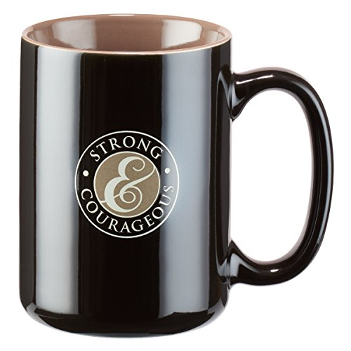 Strong and Courageous Joshua 1:9 Coffee Mug (Art Courageous)