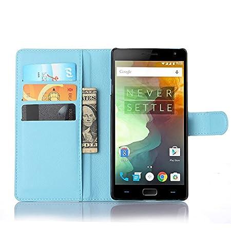 Nadakin OnePlus 2 Calidad Premium Cartera de Cuero con Carcasa de Teléfono Flip Funda con Soporte Magnetico de Cierre para OnePlus 2 (Negro)