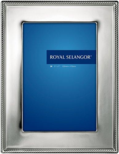 Royal Selangor 013267R Jefferson Photoframe, 5'' x 7'', Pewter by Royal Selangor
