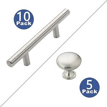 hypergiant cabinet hardware 10 pack t bar cabinet pulls 5 pack