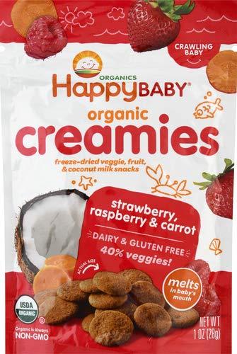 Happy Creamies Baby Food, Strawberry, Raspberry Carrot, 1 oz
