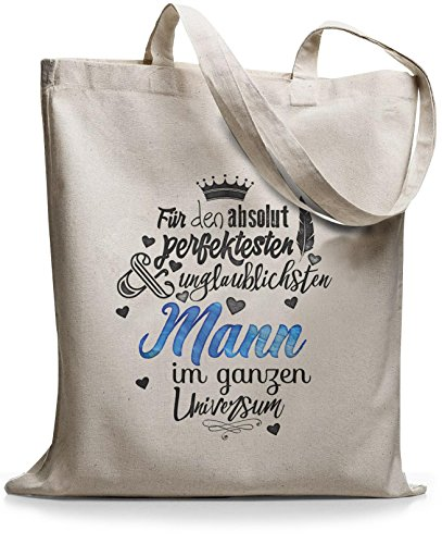 StyloBags Jutebeutel / Tasche Für den absolut perfektesten Mann Natur