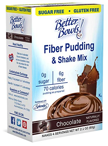 Better Bowls Sugar Free, Chocolate Pudding, 2.1 Ounce (Pack of 6)
