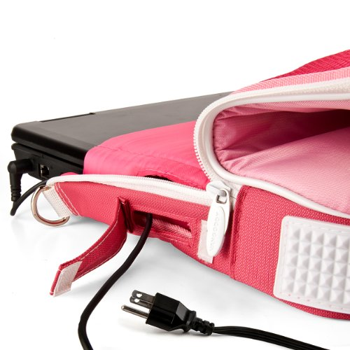 "VanGoddy Pindar Pink Laptop Bag w/Accessories for iBall CompBook/iBall Slide 10""-12inch"