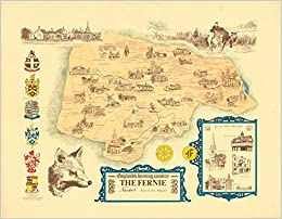 Map Of Uk Leicester.The Fernie Hunt Map Leicester England S Hunting Country Facsimile