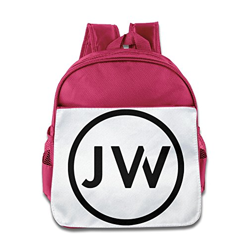 HYRONE Jacob JW Logo Whitesides Kids School Backpack For 1-6 Years Old Pink (Jordan Playground Poster)