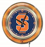 Syracuse Orange HBS Neon Orange Navy College Battery Powered Wall Clock (15'')