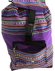 Beach Bag, Backpack-Purple & Rainbow