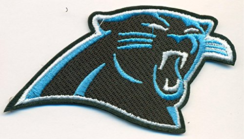 new product 154fd 2d307 Carolina Panthers Logo Football NFL Embroidered Iron On Patches Hat Jersey