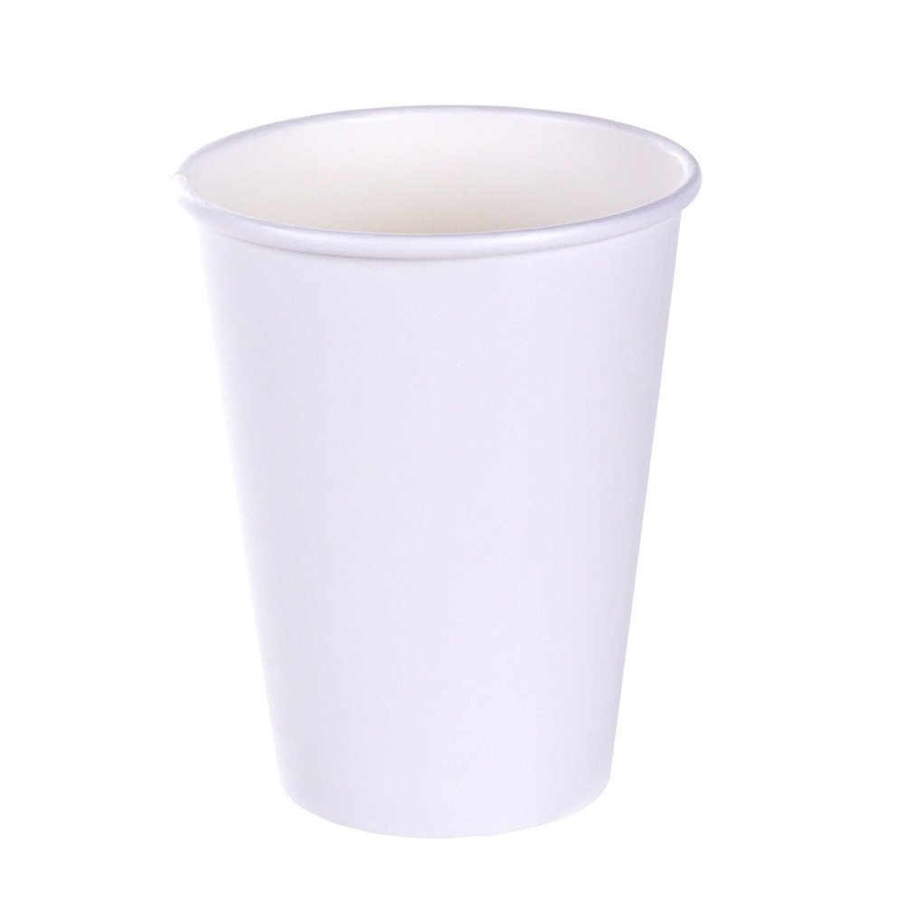TashiBox 12 oz White Hot Drink Paper Cups - 120 Count - Disposable Paper Coffee Cups by TashiBox (Image #1)